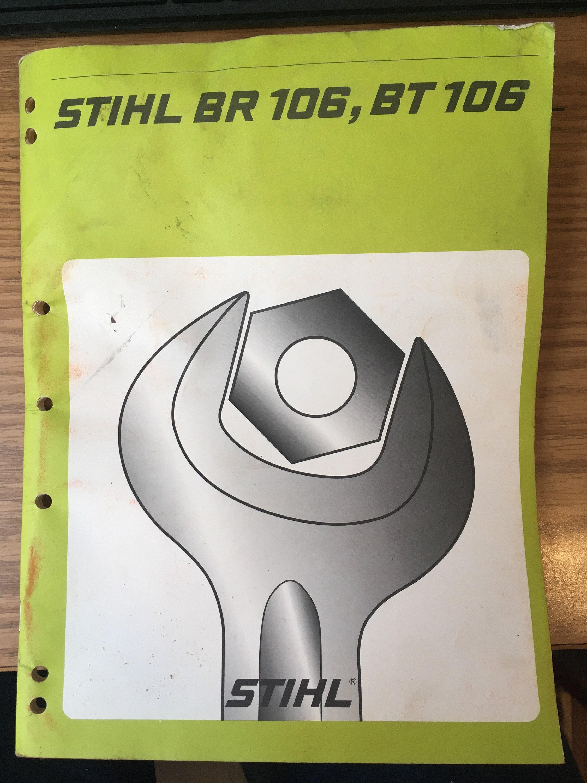 Service Manual for Stihl BR 106 & BT 106. Vintage. for sale
