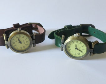 Watch for women. Retro style eco leather watch. Inexpensive classic watch. Cute watch ideal for a gift by RedesignMJ