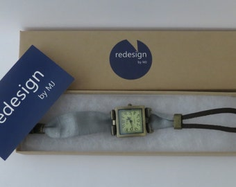Unique watch. One of a kind watch. Artisan made watch. For big wrist watch designed by redesignMJ