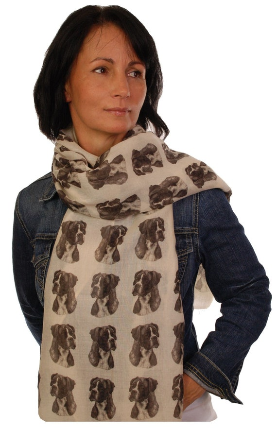 Rough Collie scarf with dogs on mike sibley hand printed womens fashion wrap