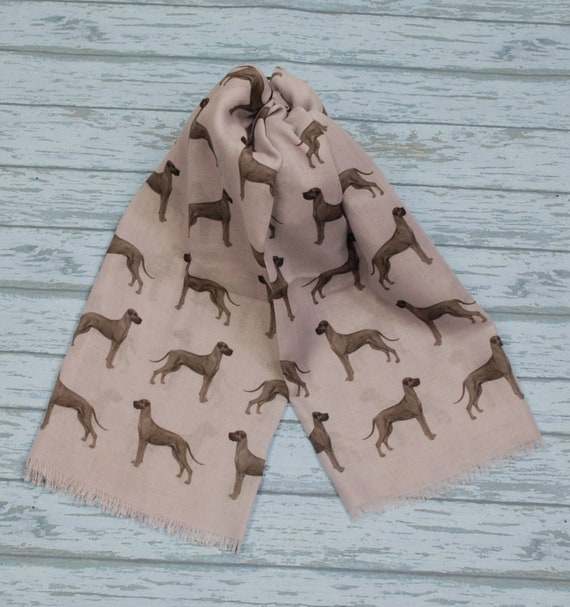 Clumber Spaniel dog print scarf with dogs printed ladies fashion womens scarves