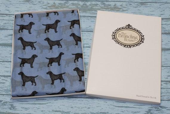 Golden Retriever dog breed print scarf hand printed ladies fashion womens shawl