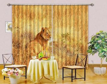 3D Large Photo Curtain AJ Wallpaper 3D Black Yellow Ink  CC354 Blockout Photo Curtain Print Curtains Drapes Fabric Window