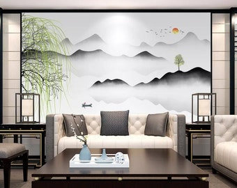 3D Willow Hills GNGN516 Wallpaper Mural Decal Mural Photo Sticker Decal Wall Self-Adhesive Wall Art Design 3d printed Removable Wallpaper