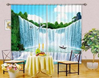 3D Green Plants C332 Blockout Photo Curtain Print Curtains Drapes Fabric Window 3D Large Photo Curtain AJ Wallpaper