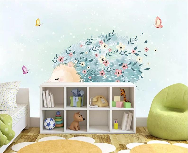 3D Flower Butterfly GN1297 Wallpaper Mural Decal Mural Photo Sticker Decal Wall Self-Adhesive Wall Art Design 3d printed Removable Wallpaper
