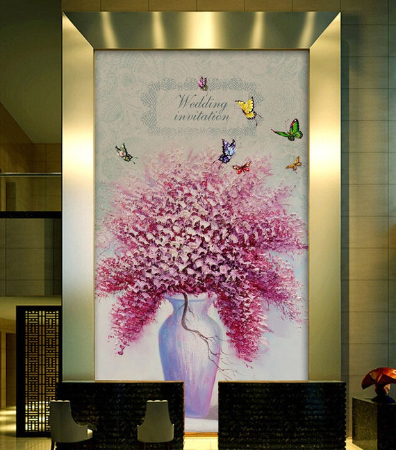 3D Floral Pure flower Self-adhesive Removable Photo Wallpaper Wall Mural