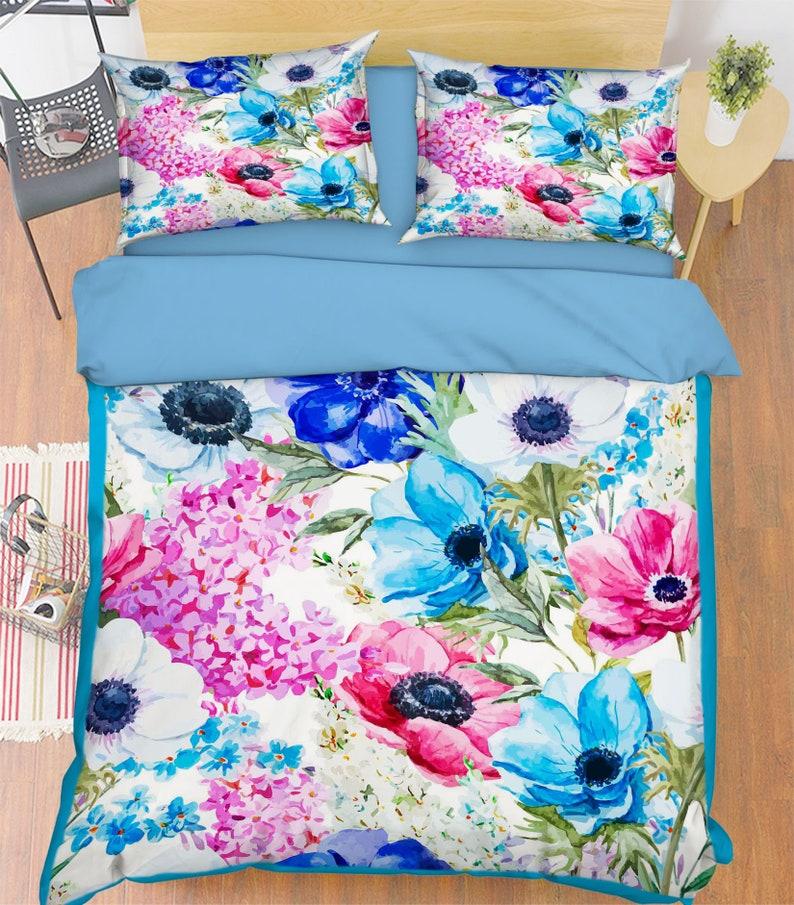 3D Pink Flower MM88 Duvet Cover Bedding Set Quilt Cover Quilt image 0
