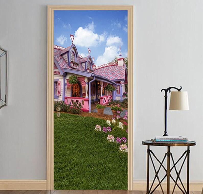 AJ Wallpaper US Lemon 3D House D191 Door Wall Mural Photo Wall Sticker Decal Wall Self-Adhesive 3D Door Wall Mural