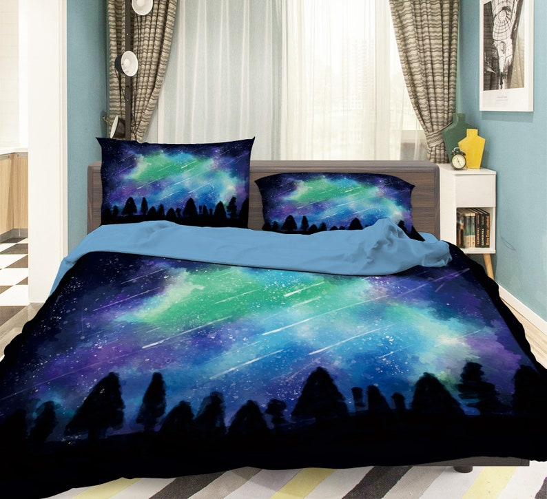 3D Abstract Blue MM82 Duvet Cover Bedding Set Quilt Cover image 0