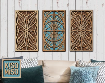 Home Decor/ laser cut files/ SVG/ DXF/ Geometric wall art/ Rectangle/files for Glowforge/Digital Download