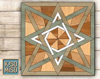 Quilt SVG laser cut files for Glowforge. Home decor SVG. Digital Download. Wall art.