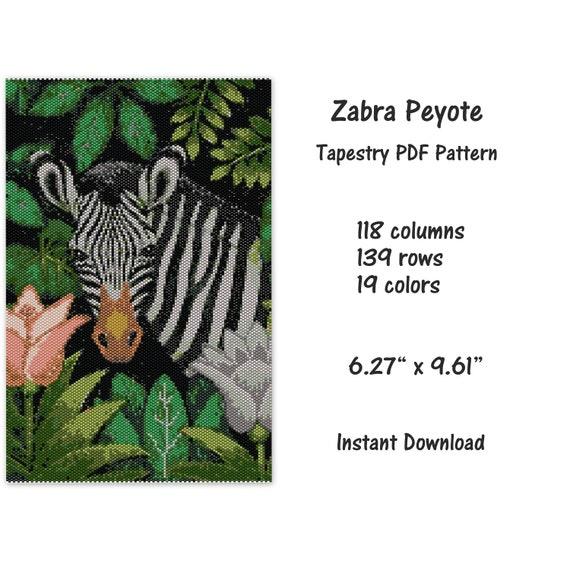 miyuki delica pattern Peyote PDF pattern Peyote Tapestry Pattern seed bead pattern Friends Peyote Tapestry Pattern