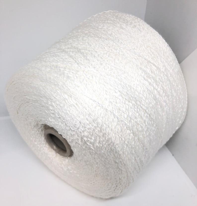 White Viscose Yarn on Cone Italian 14.1oz  400g Knitting Machine Weaving