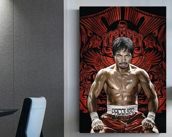 Manny Pacquiao canvas Boxer framed canvas Boxing star 8 world champions divisions Manny Pacquiao canvas