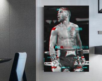 Vasyl Lomachenko canvas  boxing wall decoration boxing wall art floating frame boxing illustration loma frame