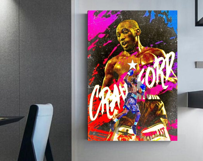 """Terence """"bud"""" Crawford canvas boxer Terence crawford's frame Ultimate decoration for boxing fan wall decoration"""
