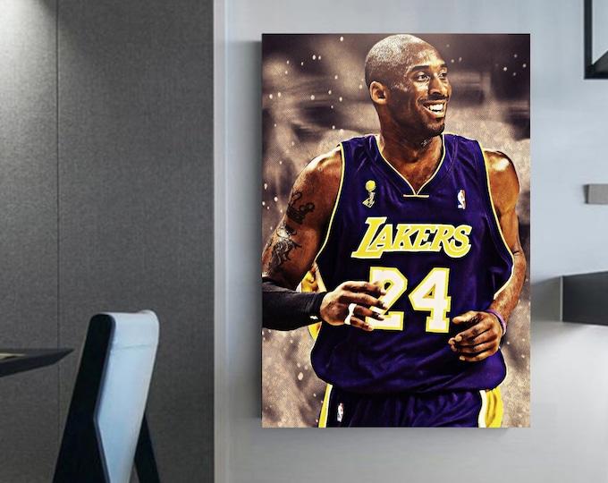 Kobe Bryant Picture Framed Kobe canvas wall art basketball rest in peace kobe Bryant RIP Kobe (RIP) Kobe Bryant art poster and canvas