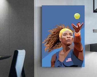 Serena Williams Tennis fanatics Interior decoration tennis canvas prints Serena Williams canvas prints Tennis wall art