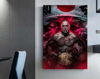 Georges St-Pierre UFC wall art GSP canvas Home decor UFC Georges St-Pierre's Wall Decoration ufc wall art decor gsp poster art