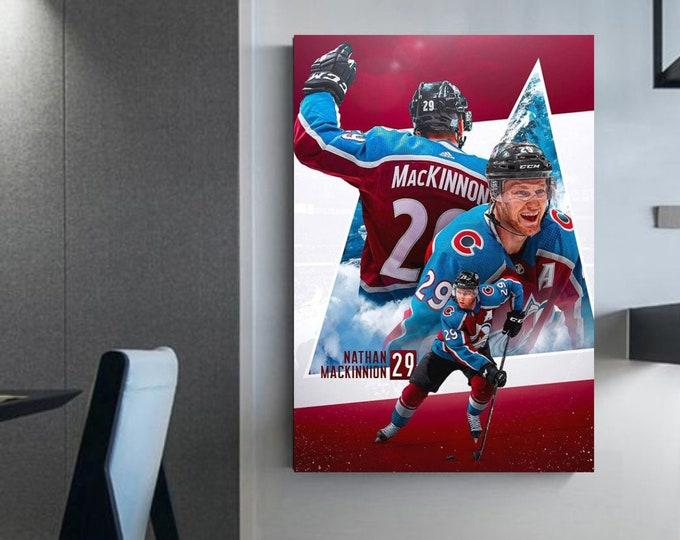Nathan Mackinnon hockey decoration Mackinnon canvas wall art nathan mackinnon Mackinnon art Mackinnon home decoration