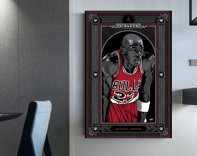 Michael Jordan canvas MJ Cards (c) Michael Jordan decor NBA STARS Michael Jordan gift idea basketball fan wall art Jordan Art