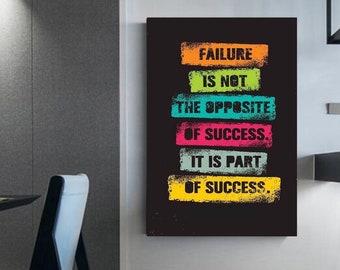 Success quotes Motivational canvas Wall art Artwork on canvas Motivation to be successful office decor Entrepreneur quotes