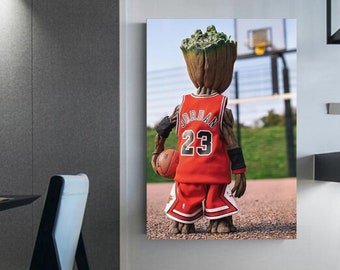 I'm called groot! Basketball decoration Canvas (c) Poster groot ' Guardian of the Galaxy Illustration on a wall canvas Dad gift