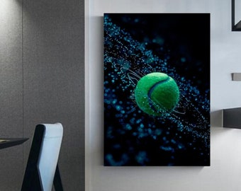 Photography tennis ball wet Wall decoration for tennis players Home-decorated Deco mural Tennis frame
