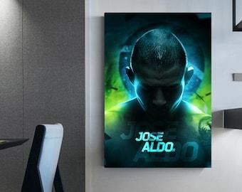 jose aldo poster wall art canvas ufc champions jose aldo ufc Fighting sports wall decoration mma frame Mma Sport jose aldo