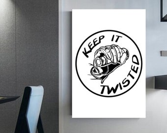 Keep it Twisted Only motocross lovers can understand Canvas wall decor Motocross room décor ' Motorcycle art prints