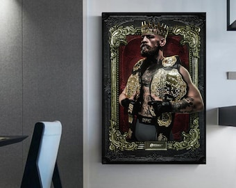 Connor McGregor wall art Ufc canvas world champions ufc king of ufc Connor McGregor canvas McGregor poster decorated wall ufc