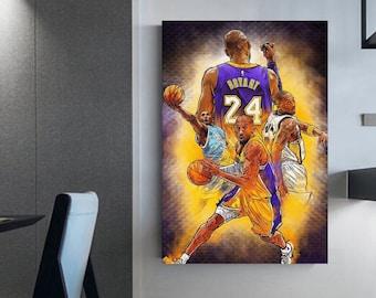 Kobe Bryant canvas Basketball wall art canvas Kobe Bryant Rip 2020 Canvas wall art NBA Player Shop Kobe Bryant art poster