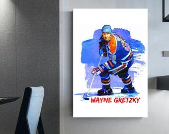 Wayne Gretzky canvas Hockey wall art prints Gretzky wyane frame Man cave hockey Wayne Gretzky wall art NHL hockey wall art canvas