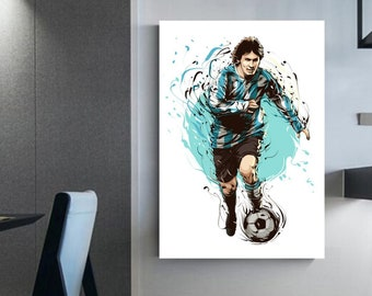 Lionel Messi soccer frame canvas messi soccer decoration Wall interior decoration wall art football