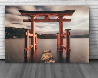 Canvas Japanese Temple Decoration for the tokyo theme house, Japan