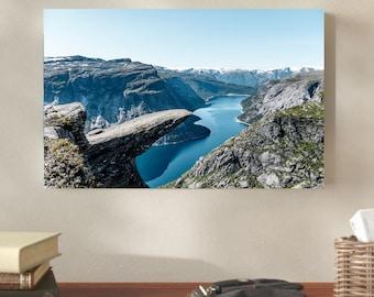 Trolltunga, Norway Decoration canvas wall art home decor nature