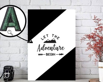 Let the Adventure Start Embroidery Canvas Wall decoration for adventurers canvas embroidery