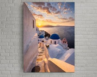 Santorini, Greece Sunset wall decoration Santorini prints The Island of Lovers