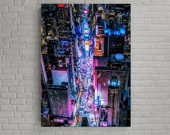 Tokyo's downtown night Popular street in tokyo urban landscape on framed canvas