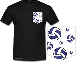 t-shirt for volleyball lovers pocket sweater with volleyball motif Volleyball on the beach gift for sister volleyball