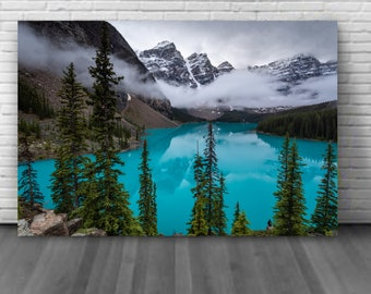Banff, Alberta canvas photography Banff, Moraine Lake wall art decoration Banff National Park