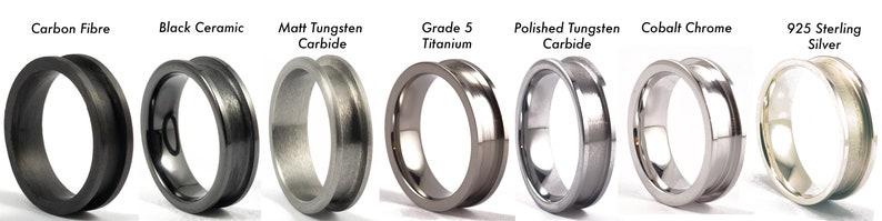 6mm Rose Gold Tungsten Carbide Ring liner