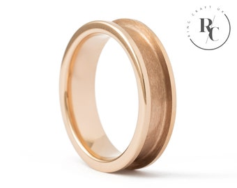 6mm Rose-Gold Tungsten Carbide Ring Core