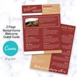 2-Page Welcome Guest Guide | Canva Template | AirBnb | House Guide | VRBO | Host Guide | AirBnb Host | Home Rental | Refrigerator Page