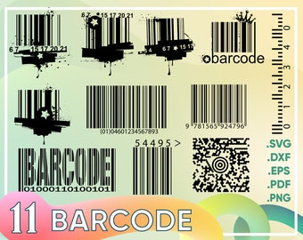 Barcode svg | Etsy