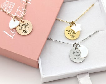 Personalized Motherboard Necklace, Name necklace, Birth Jewel, Woman Gift, Mom Necklace, Mom Gift, Mother's Day Gift
