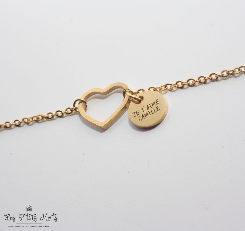 Personalized Heart Bracelet  Valentine's Gift image 0