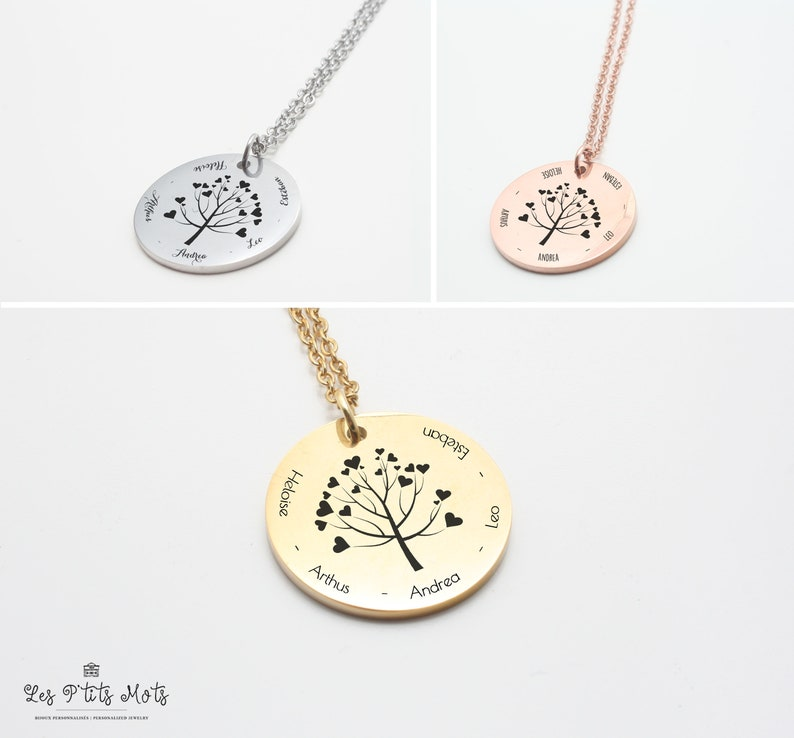Custom Necklace Tree of Life  Grandmother's Day  First image 0