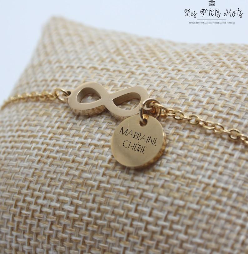 Infinite Personalized Bracelet  Valentine's Holy Gift image 0